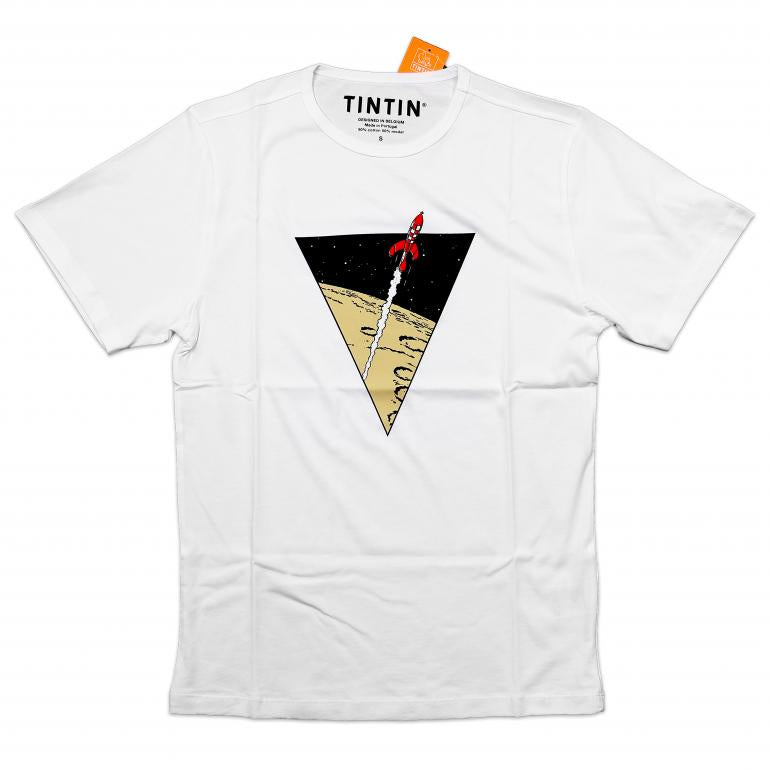 T-SHIRT: Triangle Rocket White