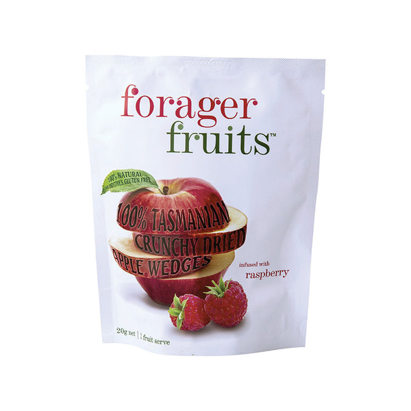 Freeze Dried Raspberry infused Apple Wedges | 100% Tasmanian - Forager Foods