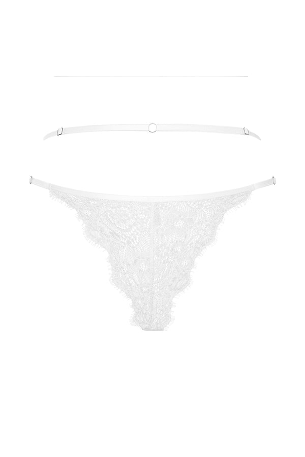 Central Thong - White