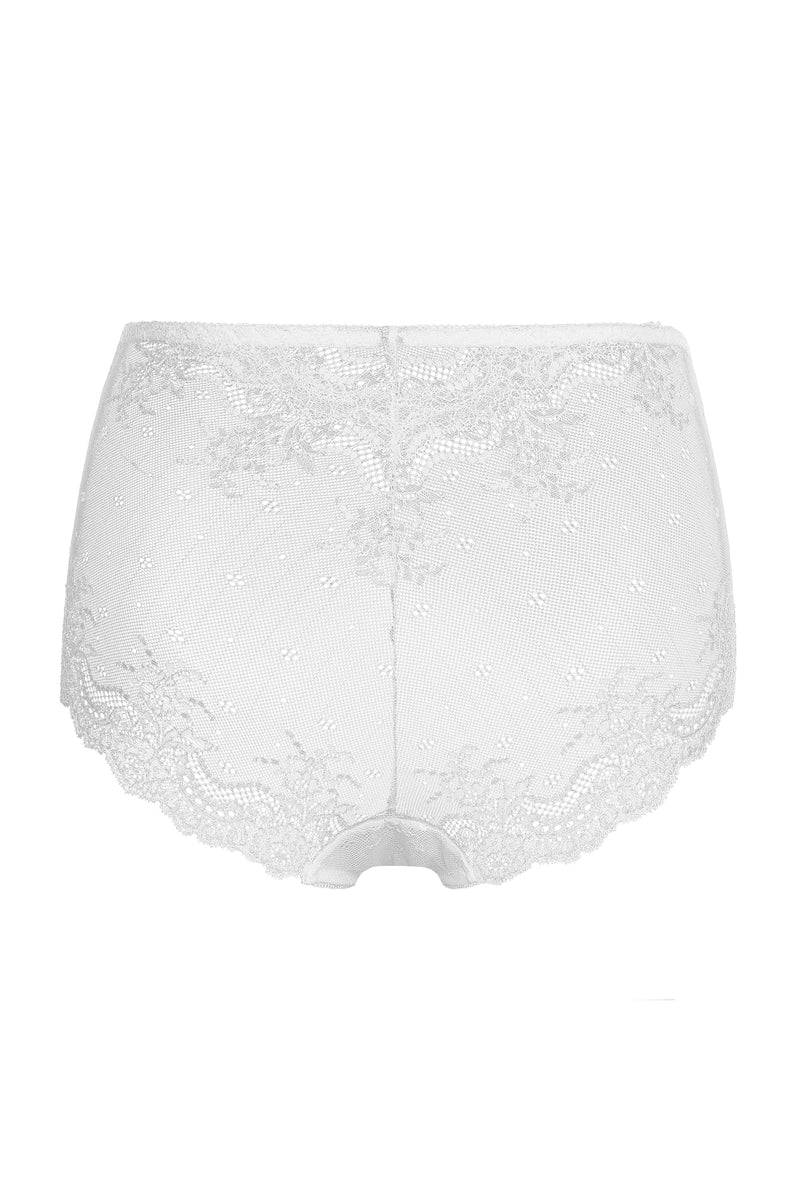 Basic High-Cut Brief - White