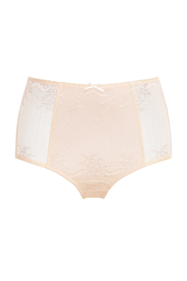 Basic High-Cut Brief - Beige