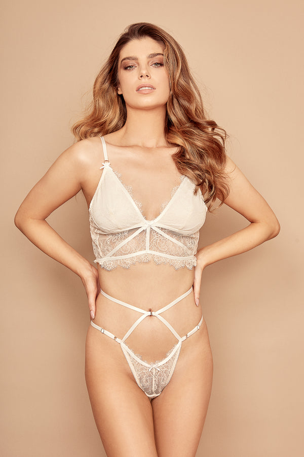 Maldives Bralette - White