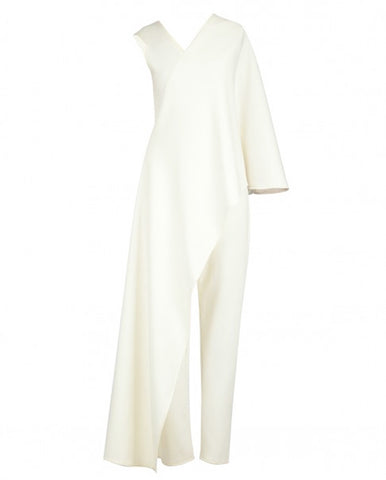 Ivory Draped Jumpsuit