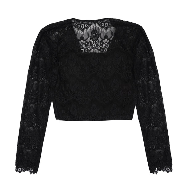 Black Lace Crop - Bhaavya Bhatnagar