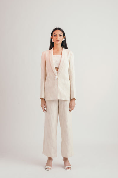Ivory Cloud All Weather Blazer - Bhaavya Bhatnagar