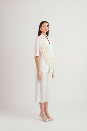 Ivory Flow All Weather Blazer - Bhaavya Bhatnagar