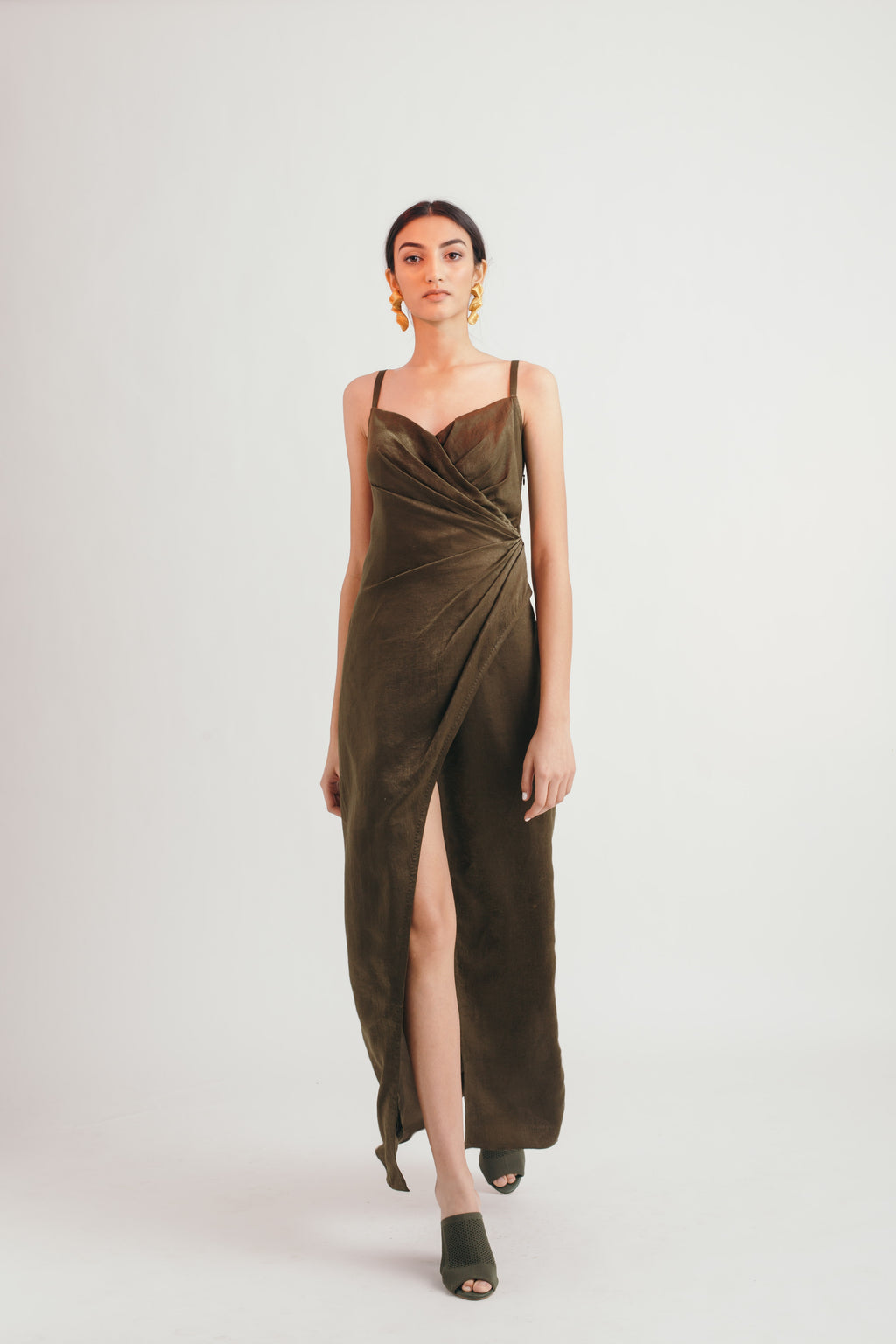 Olive Embrace Dress - Bhaavya Bhatnagar