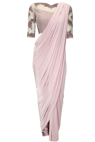 Misty Mauve Beaded Concept Sari