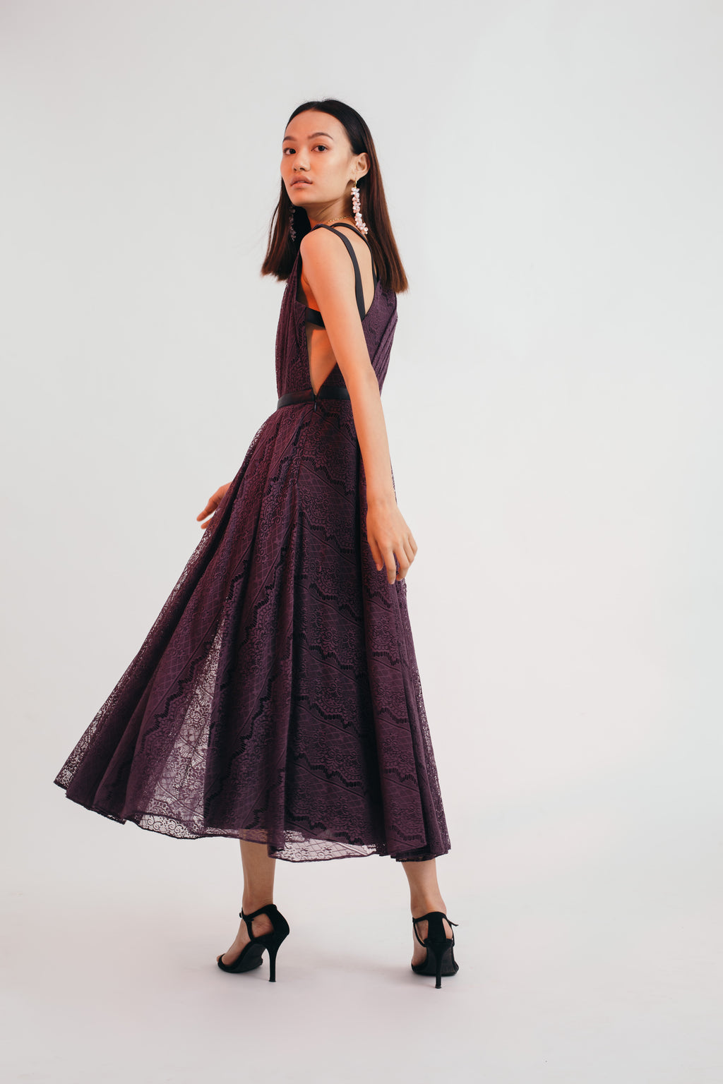 Blackcurrant Across The Floor Dress SMALL/MEDIUM - Bhaavya Bhatnagar