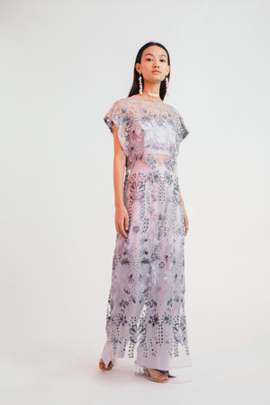 Mystical Meadow Sheer Dress with Pants - Bhaavya Bhatnagar