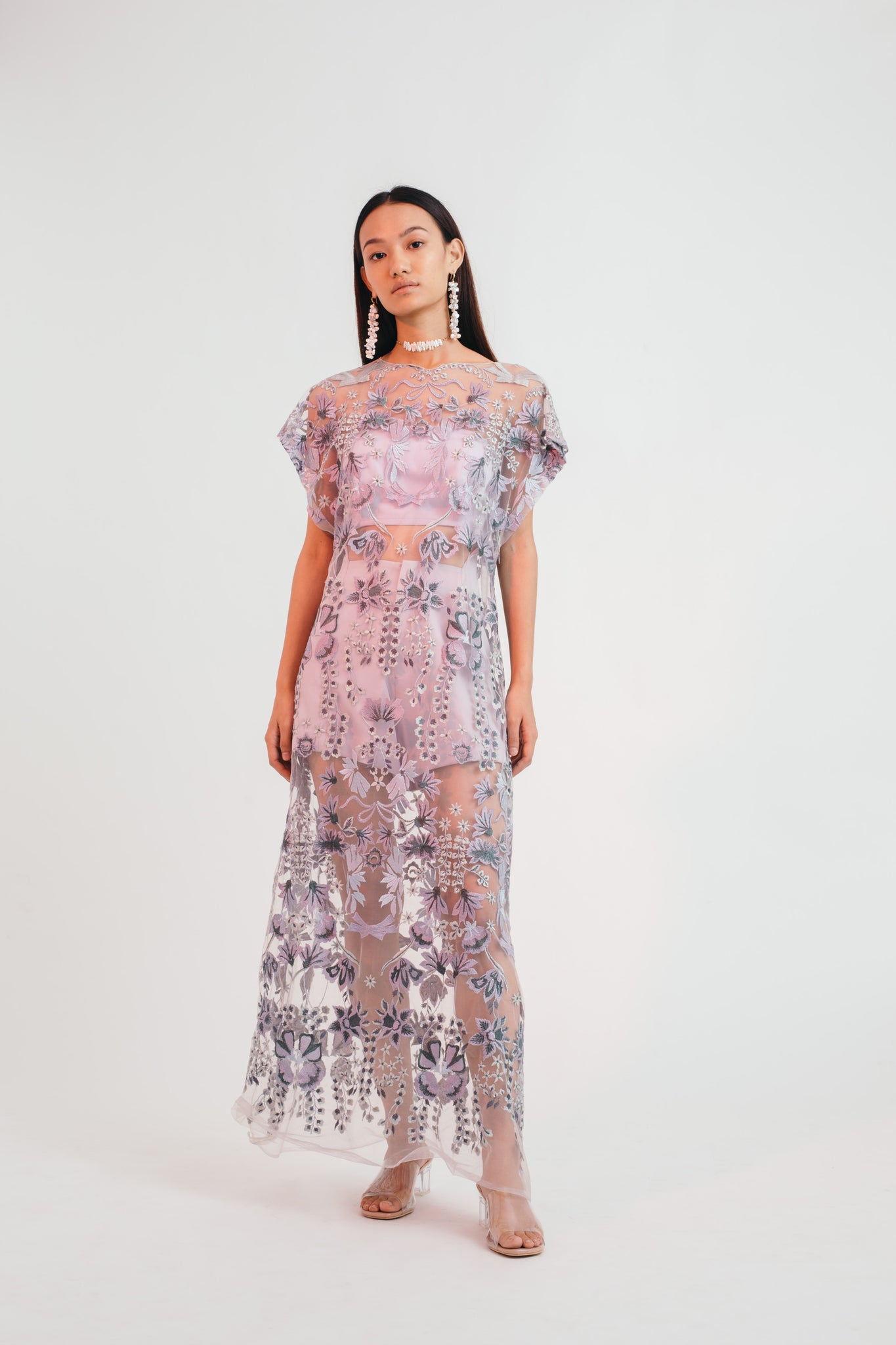 Mystical Meadow Sheer Dress with Shorts - Bhaavya Bhatnagar