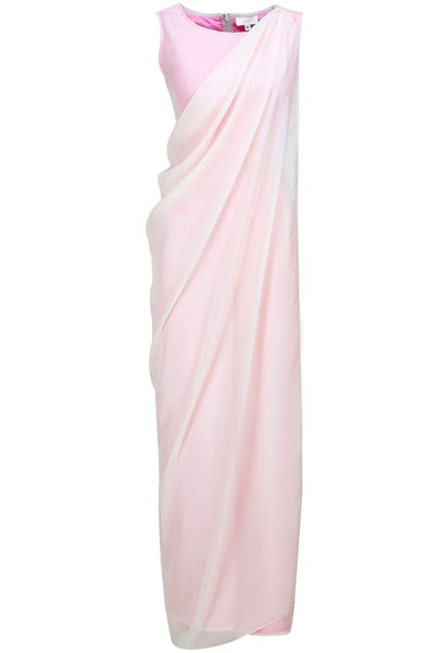 Blush Jumpsuit with a Detachable Drape