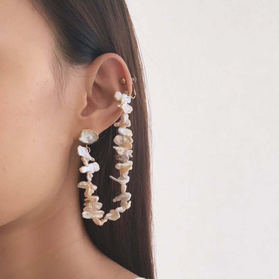 'Feelings Flow' Mismatch Earrings - Bhaavya Bhatnagar