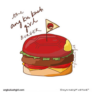The Ang Ku Kueh Girl Burger