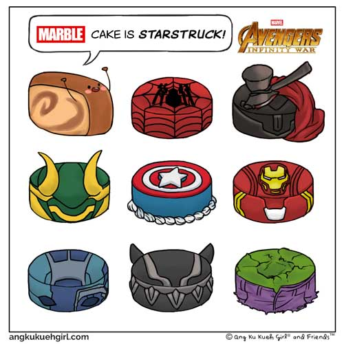Weekly Comic: When Marble Cake meets Marvel Cakes...