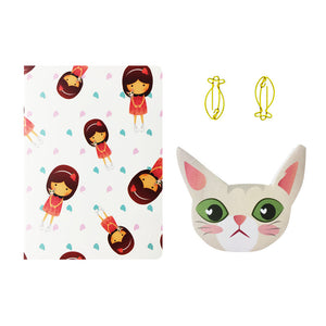 Png Kueh Girl and Kucinta Cat Fishy Stationery Set