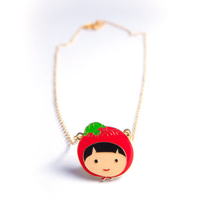 Ang Ku Kueh Girl Happiness Necklace