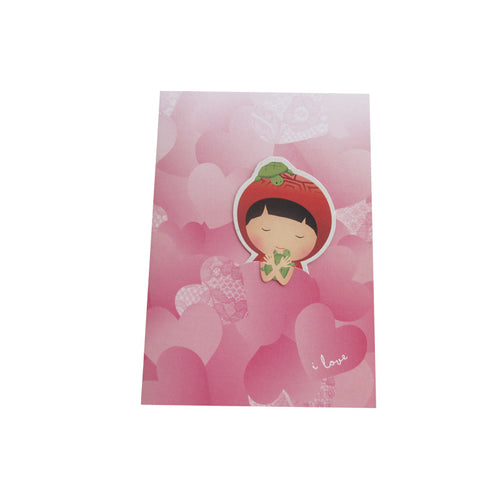 Ang Ku Kueh Girl Mermaid Card with Bookmark