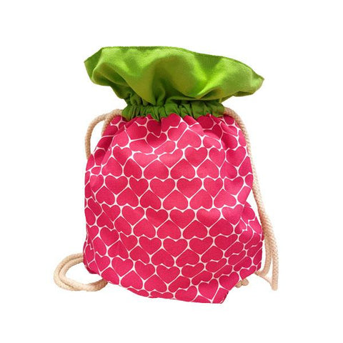 Ang Ku Kueh Girl's B.F.F. Drawstring Bag (Strawberry)