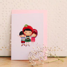 Load image into Gallery viewer, Ang Ku Kueh Girl And Friends Birthday Greeting Card Cards