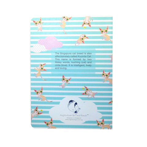 Png Kueh Girl and Kucinta Cat Fishy Stationery Set (With Kucinta Cat Notebook)