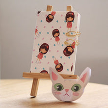 Load image into Gallery viewer, Png Kueh Girl and Kucinta Cat Fishy Stationery Set (With Kucinta Cat Notebook)