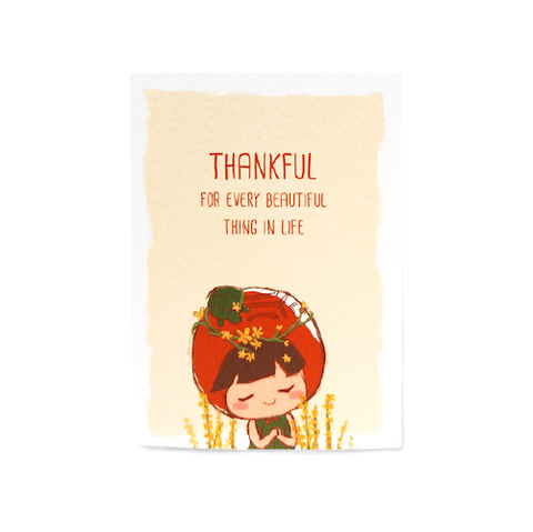 Thankful Card (Agrimony)