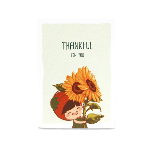 Thankful Card (Sunflower)