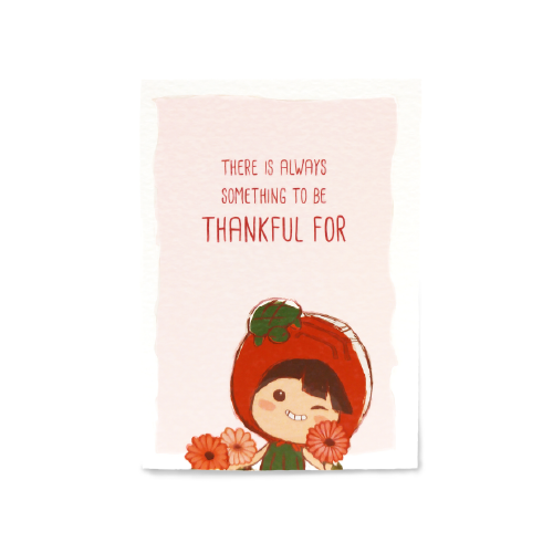 Thankful Card (Gerbera)