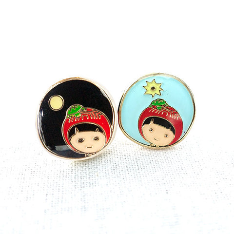 Happiness Day and Night Earrings