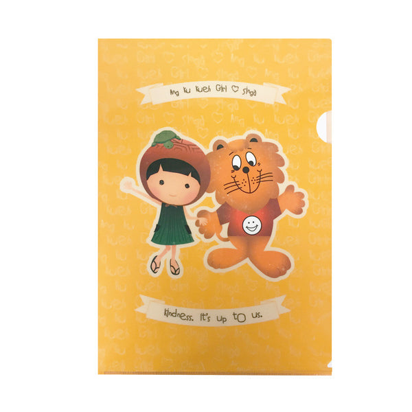 Ang Ku Kueh Girl and Singa A4 L-Shaped Folder