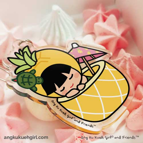 Ang Ku Kueh Girl's B.F.F. Bag Charm (Pineapple)