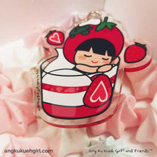 Load image into Gallery viewer, Ang Ku Kueh Girl's B.F.F. Bag Charm (Strawberry)
