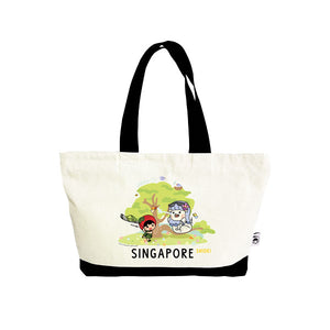 Ang Ku Kueh Girl X Merlion Series: Tote Bag (Garden City)