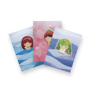 Mermaid Card with Bookmark (Bundle of 3)