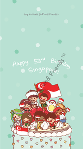 Phone Wallpaper Singapore National Day Independence NDP Ang Ku Kueh Girl Celebration