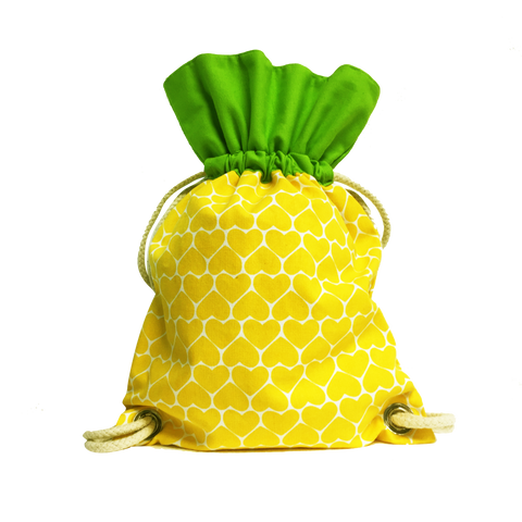 Ang Ku Kueh Girl's B.F.F. Drawstring Backpack (Pineapple)