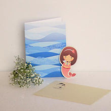 Load image into Gallery viewer, Mermaid Card with Bookmark (Bundle of 3)