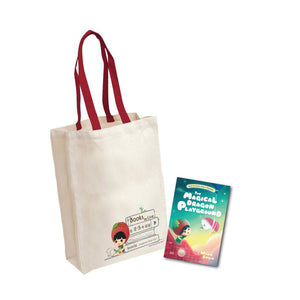 Ang Ku Kueh Girl Reading Tote Bag