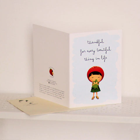 Ang Ku Kueh Girl Thankful Card