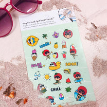 Load image into Gallery viewer, Ang Ku Kueh Girl And Red Egg Travel Series - Sticker Set Stationery