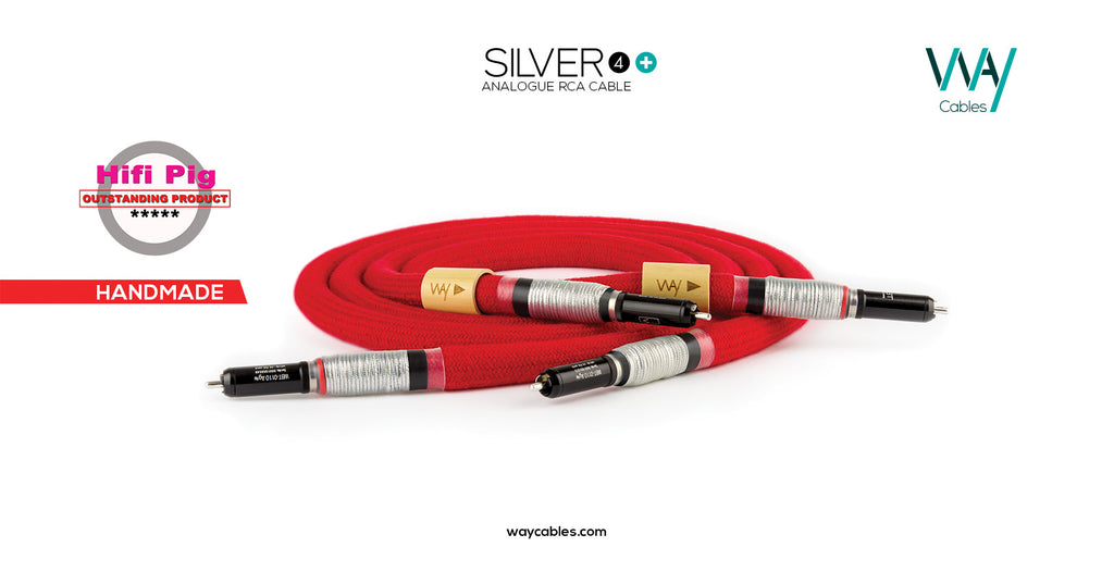 Silver4+ analog RCA-XLR interconnect (PAIR)