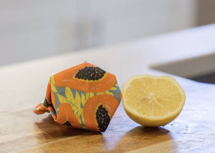 Meli Wraps Reusable Beeswax Wrap -  Tropical Papaya Print