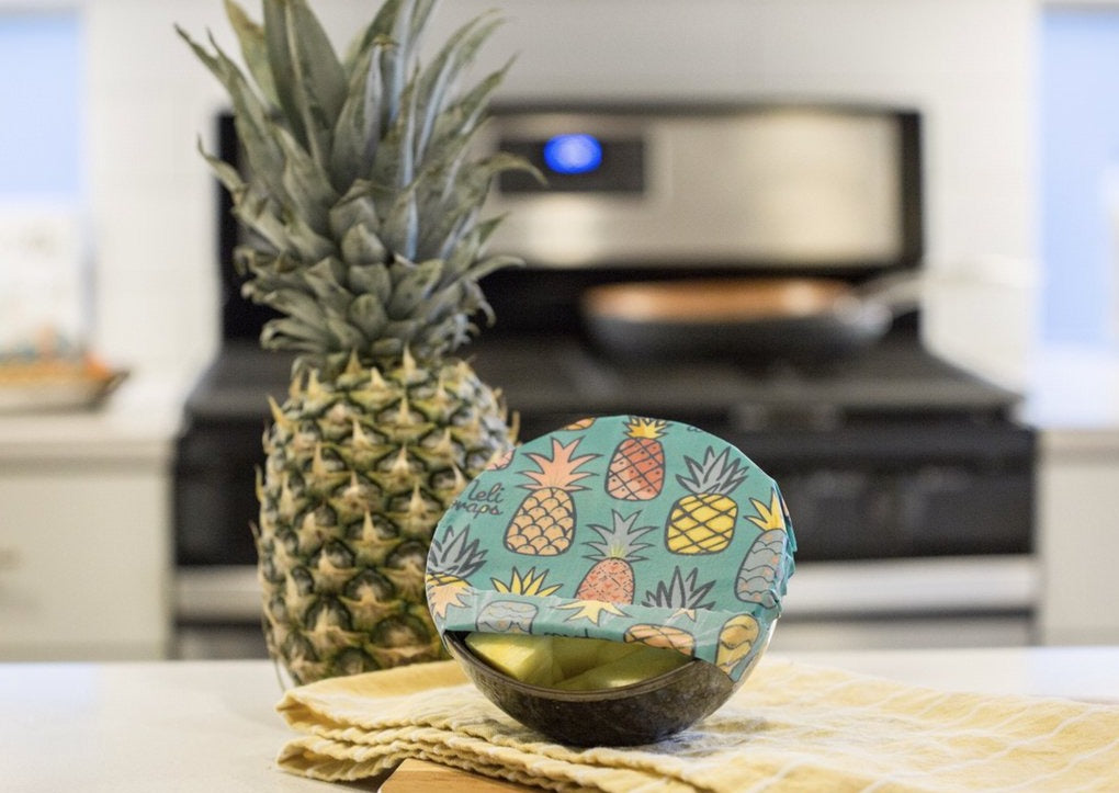 Meli Wraps® Reusable Beeswax Wrap - Pineapple Print