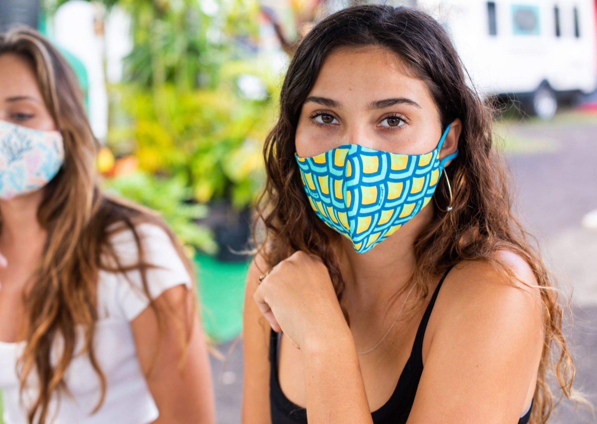 Meli Wraps 100% GOTS Organic Cotton Face Mask - Scales Print