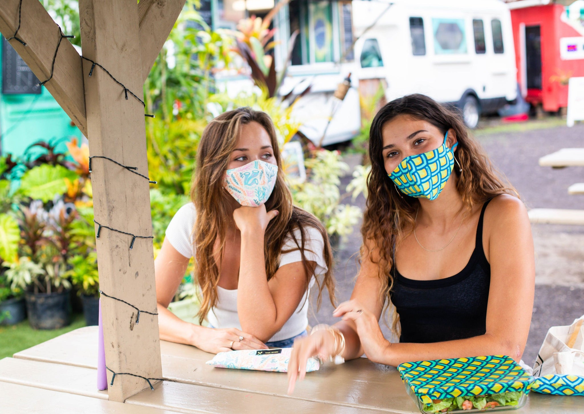 Meli Wraps 100% GOTS Organic Cotton Face Mask - Reef Print