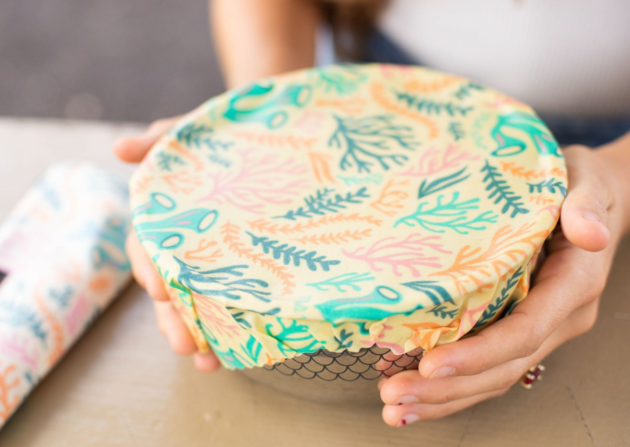 Meli Wraps Reusable Beeswax Wrap-Reef Print