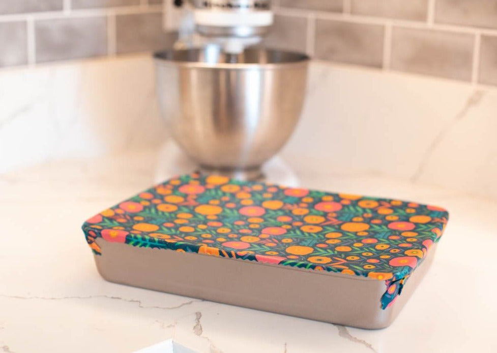 Meli Wraps Reusable Beeswax Wrap in Fall Bloom Print