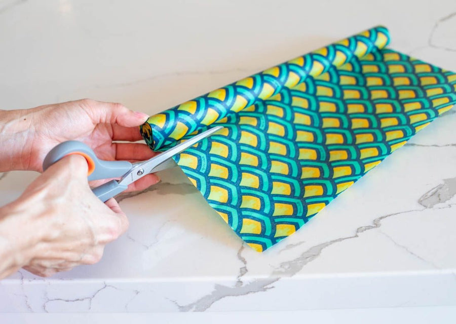 Meli Wraps Beeswax Wrap Bulk Roll - Scales Print