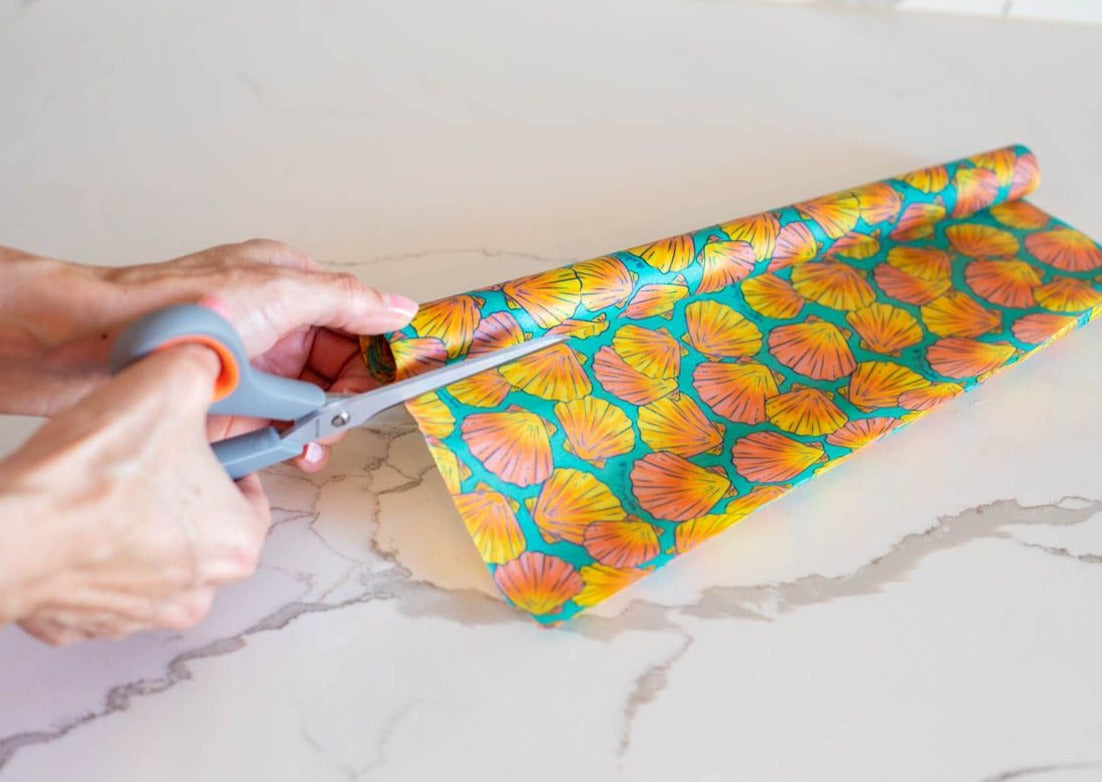 Meli Wraps Beeswax Wrap Bulk Roll - Shells Print